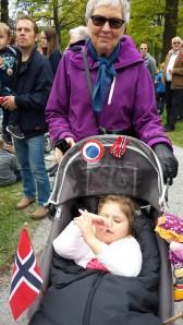 Mimmi og meg etter barnehagetoget 16. mai