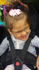 Emily i storform-på vei til barnehagen