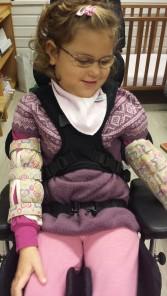 Emily sist fredag i barnehagen