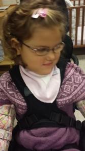 Emily i barnehagen sist fredag