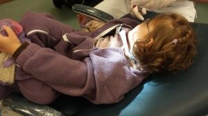 I tannlegestolen, ganske så avslappet faktisk i dag!