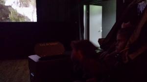 Emily på kino for første gang!