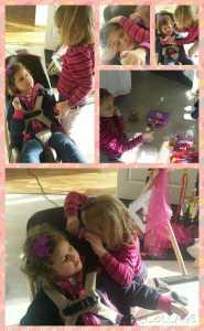 Lege Victoria undersøkerr sin første pasient: Lillegull Emily