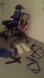"""Slik ser det ut når deler av pandastolen må """"demonteres"""" og vaskes..."""