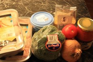 Ingrediensene til vår første middag tirsdag!