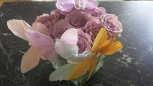 Dekorasjon med orkidèer og roser, fra snilleste Anita Elisabeth