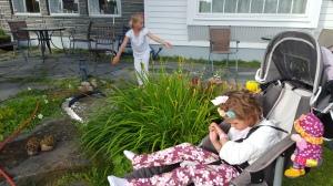 Spennende i den fine hagen til tante og onkel, hvor de fortsatt holder på og stortrives med det <3